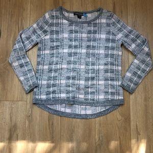 French Connection Babysoft Check Sweater Pink